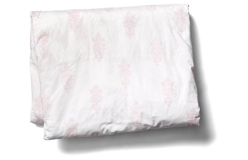 Chandelier Crest Fitted Sheet, Pink