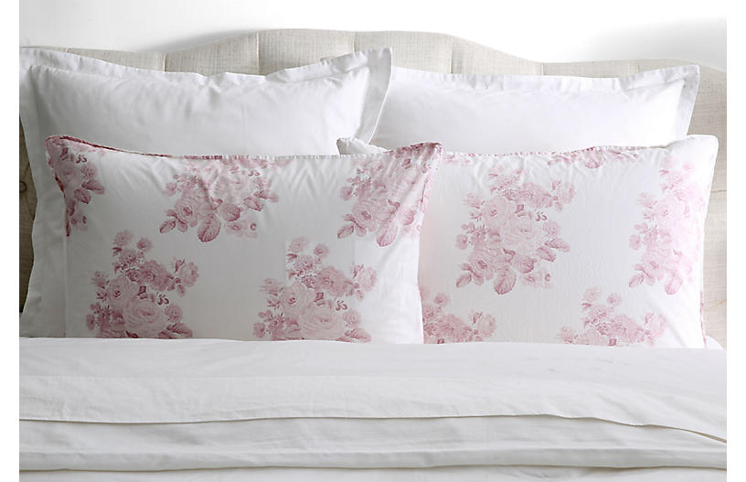 S/2 Shadow Rose Pillowcases, Pink