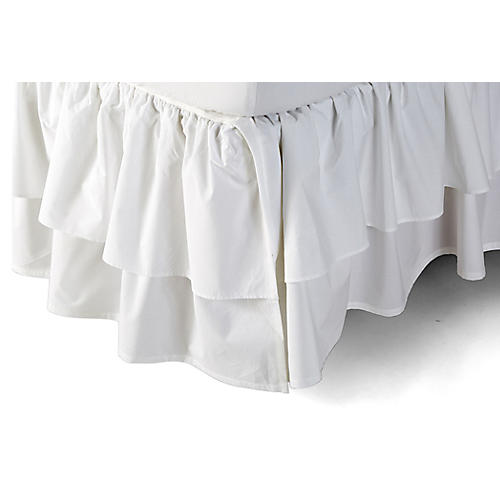 Liliput Ruffle Bed Skirt, White