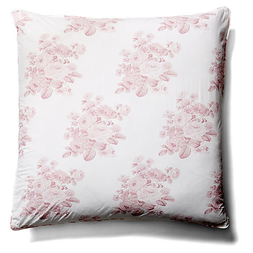 Shadow Rose Euro Sham, Pink