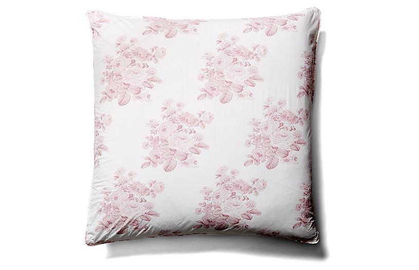 Shadow Rose Euro Sham, Pink