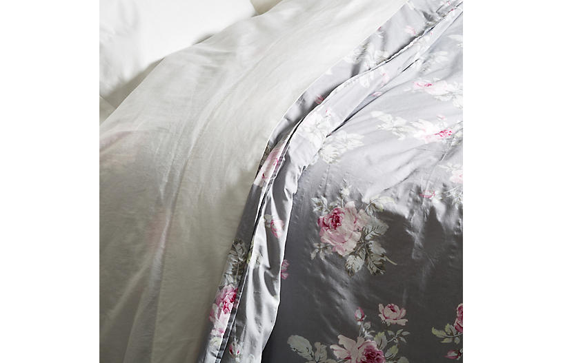 Rose Majesty Duvet, Dark Gray