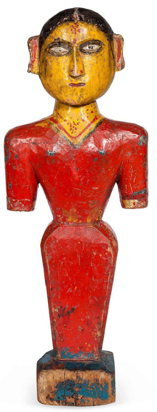 Primitive Maiden Sculpture