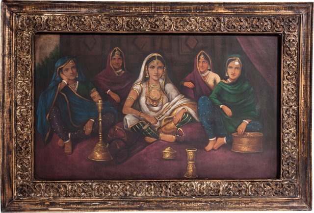Oil Painting, Courtesans