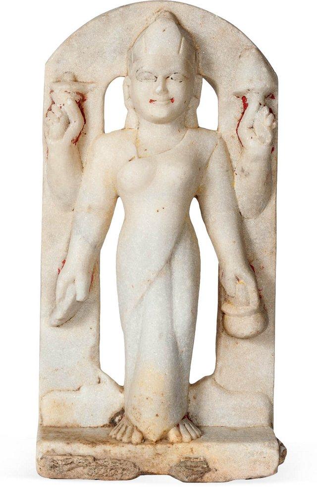 Marble Goddess Parvati Statue