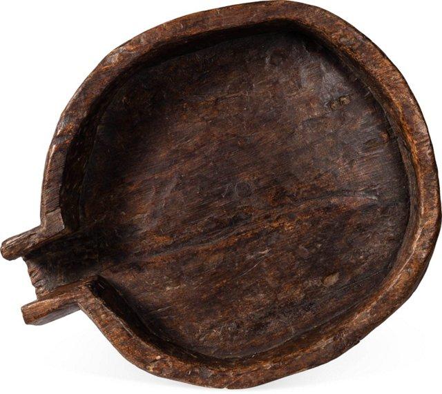 19th-C. Large Wood Bowl I