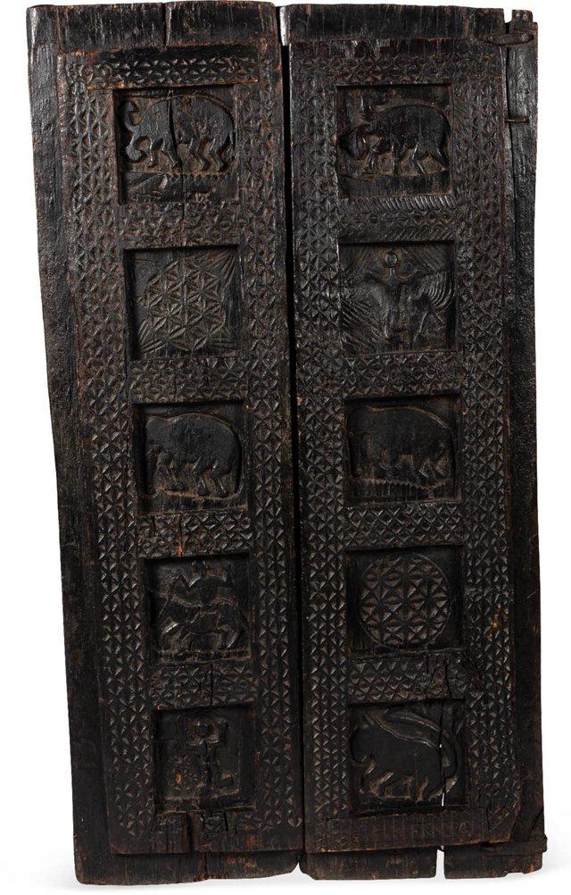 19th-C. Bastar Tribal Door