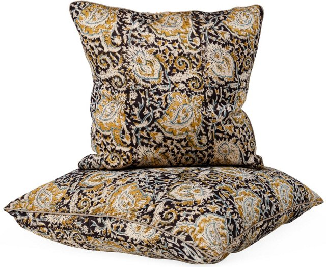 Kalamkari Pillows, Set of 2