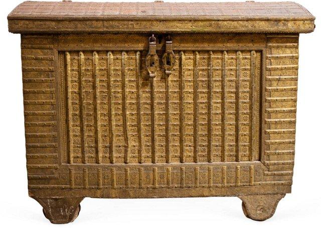 19th-C. Gujarat Treasure Chest