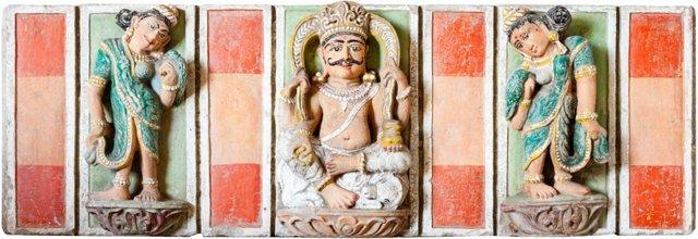 18th-C. Shiva Temple Panel