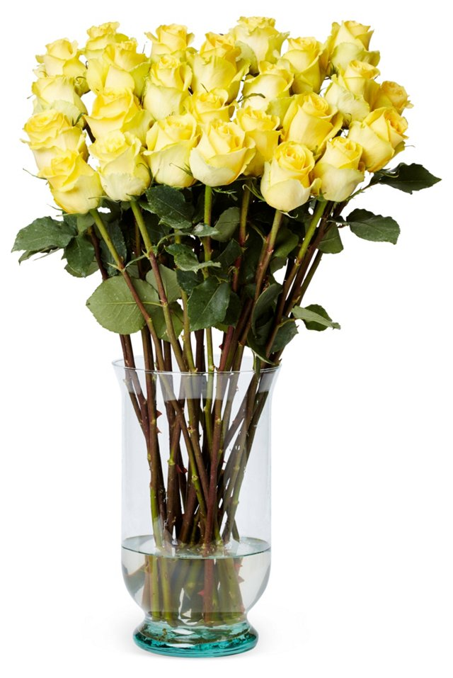 50 Premium Long-Stem Roses, Yellow