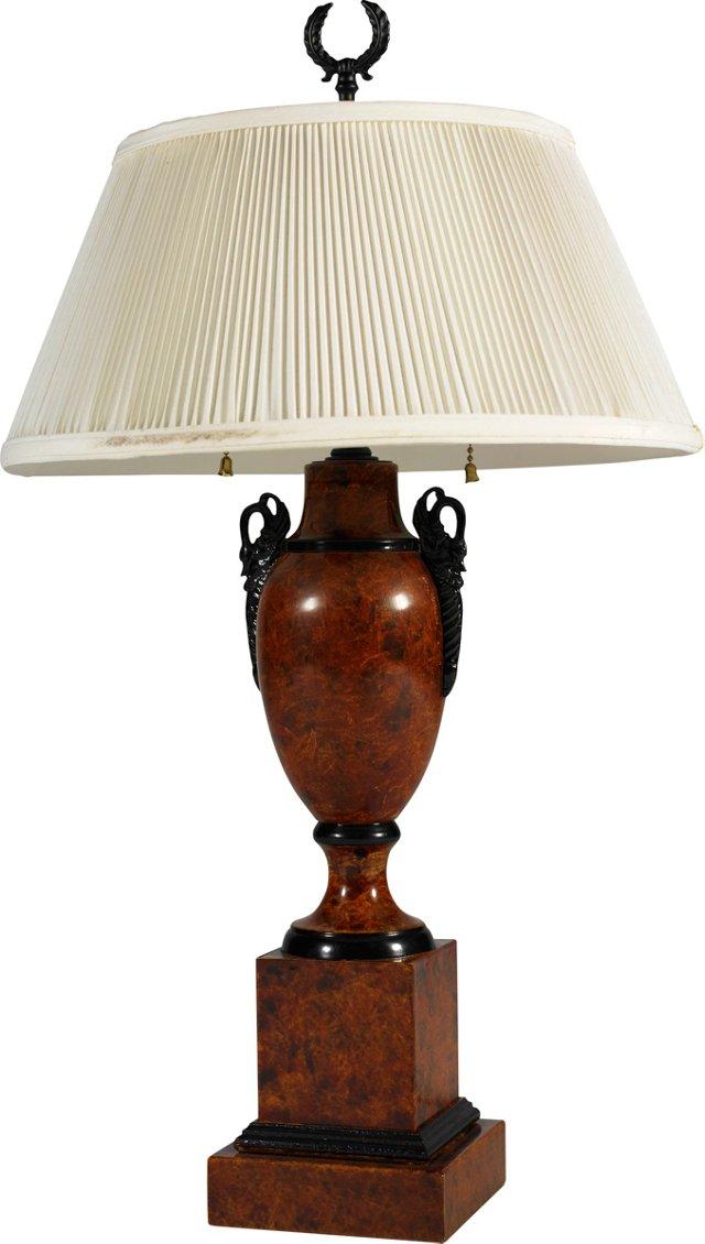 Faux-Tortoiseshell Lamp