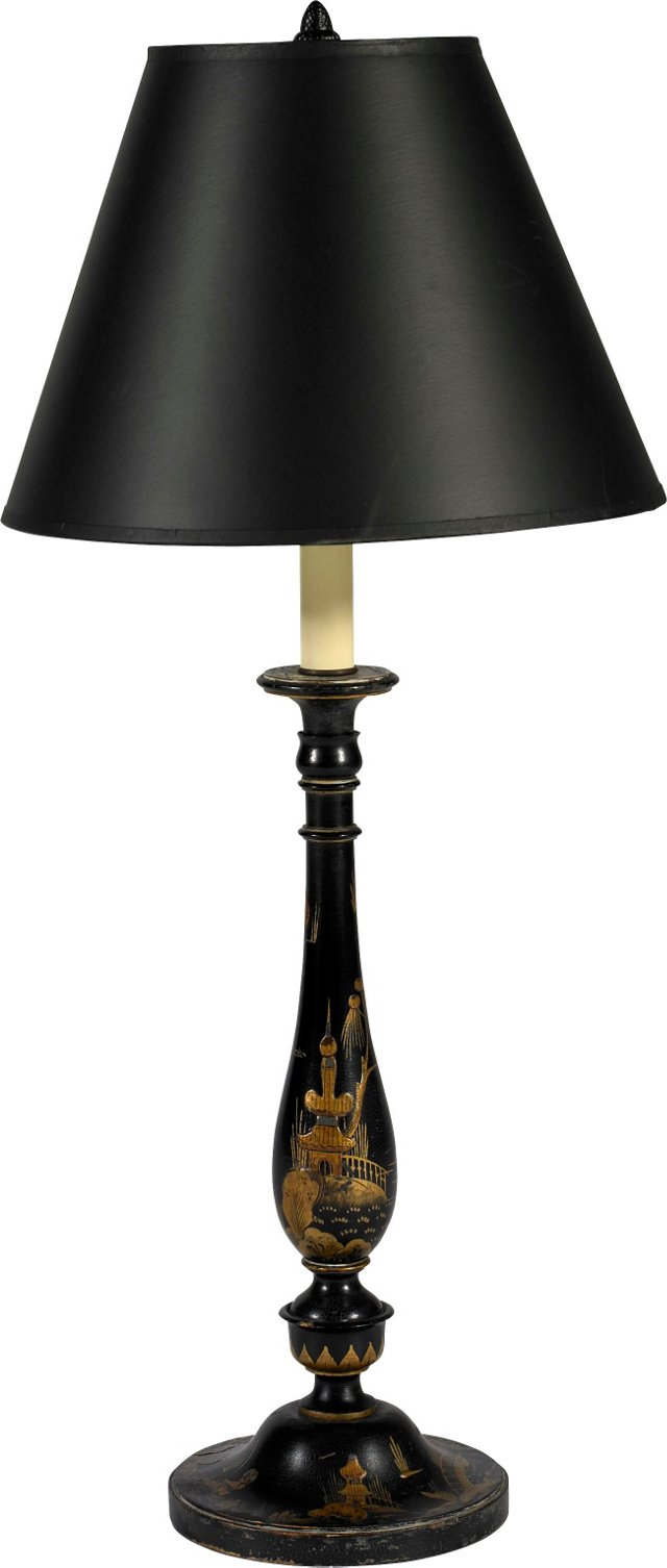 English Lacquered Lamp