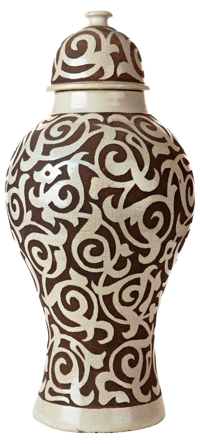 Moroccan Ginger Jar, Brown