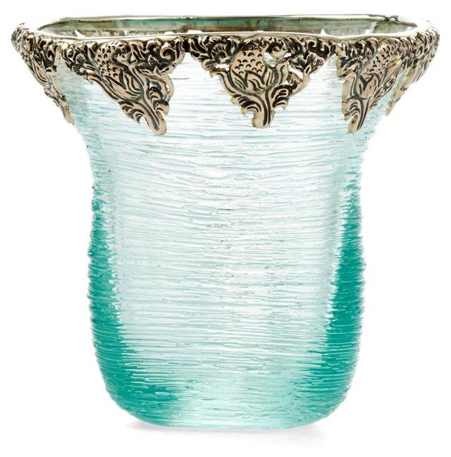 Spun Glass Bowl w/ SS Accent