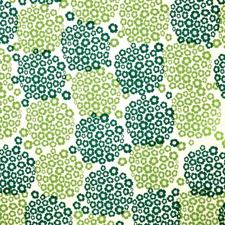 S/5 Hydrangea Gift Wrap, Yellow/Green