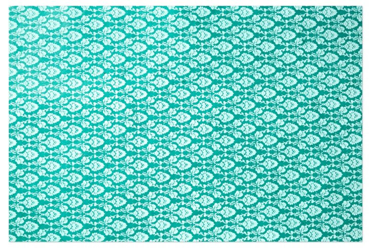S/5 Flower Bud Gift Wrap, Turquoise