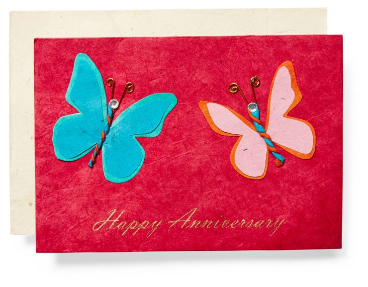 S/3 Anniversary Cards, Butterfly