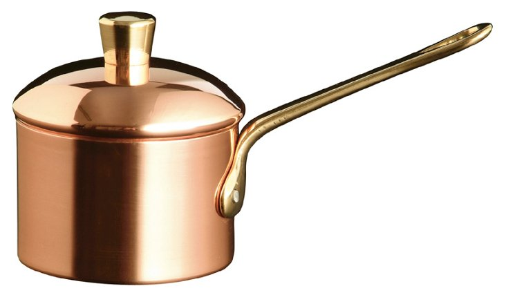 Mini Copper Saucepan w/ Lid
