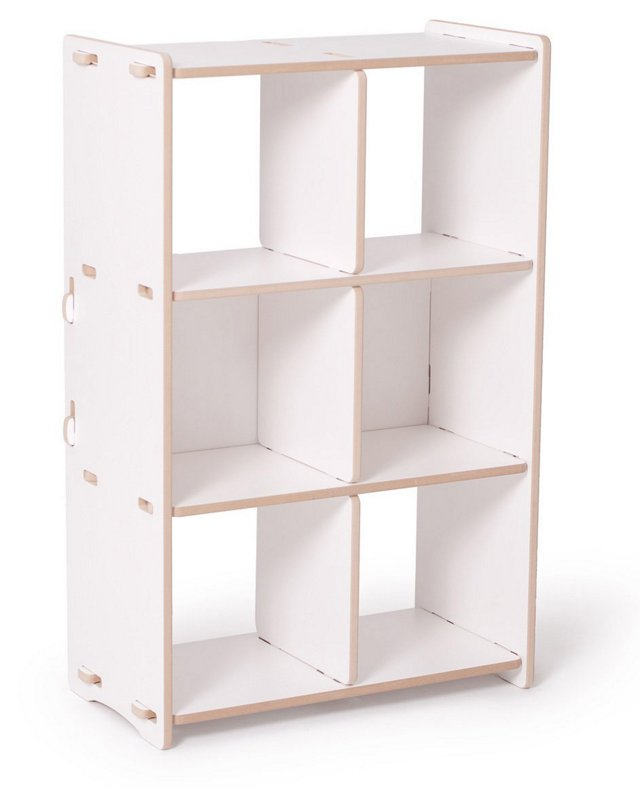 Recyclable Cubby Shelf, White