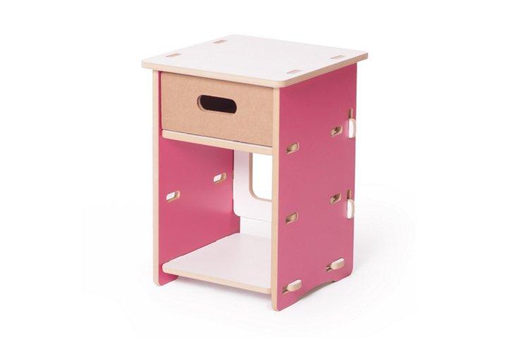 Night Stand, Pink/White