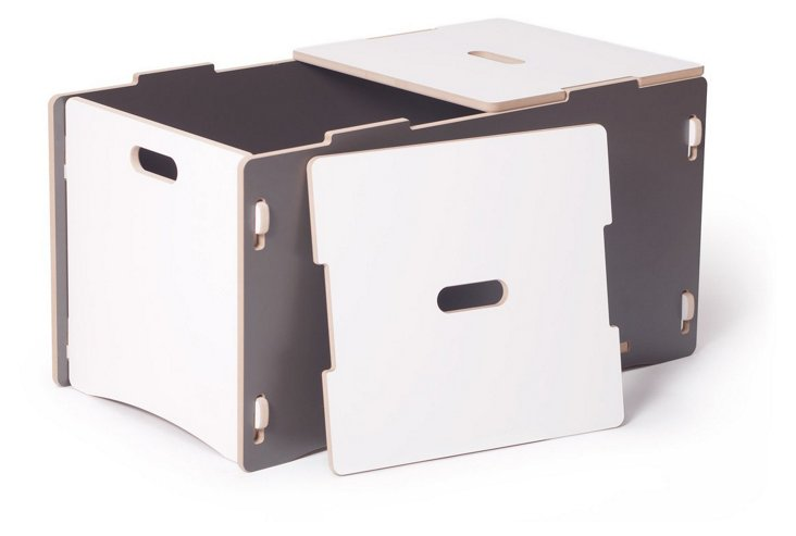 Recyclable Toy Box, Gray