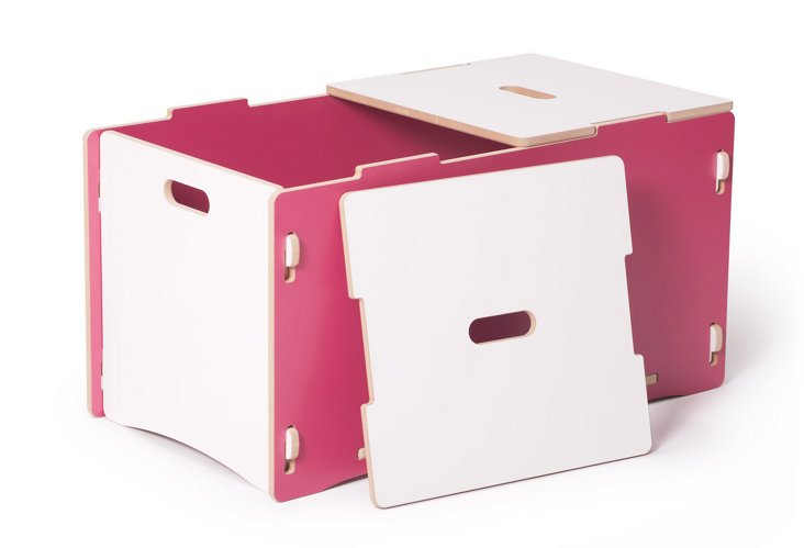 Recyclable Toy Box, Pink