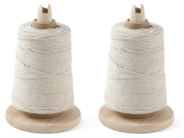 S/2 Chef's Twine w/ Cutter, Natural