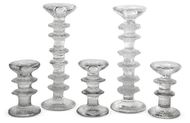 Scandinavian Candlesticks, Set of 5