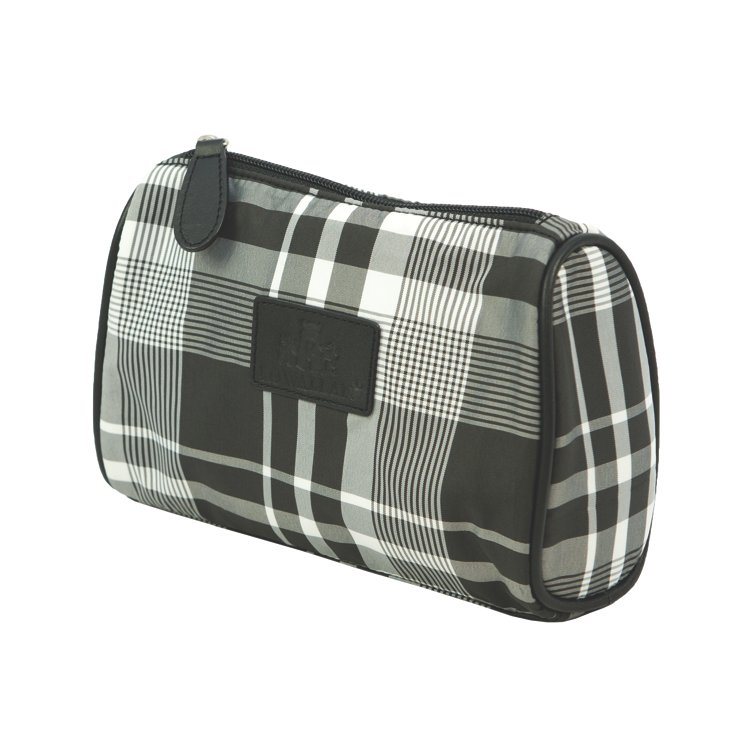 Nylon Make-Up Bag, Tartan