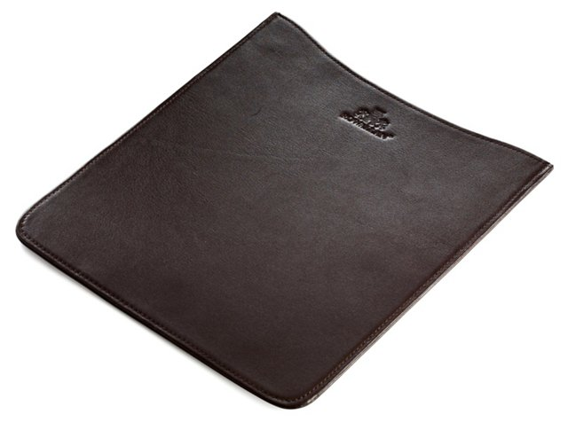 Leather Tablet Sleeve, Chocolate