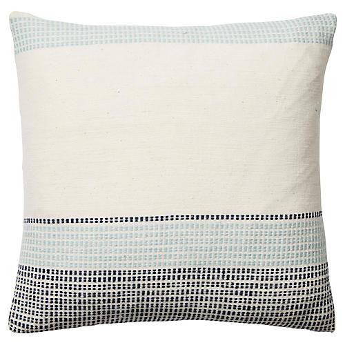 Capri II 26x26 Decorative Pillow, Blue
