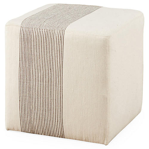 Cube Ottoman, Light Gray