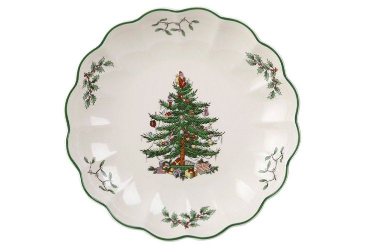 Spode Christmas Tree Fluted Dish
