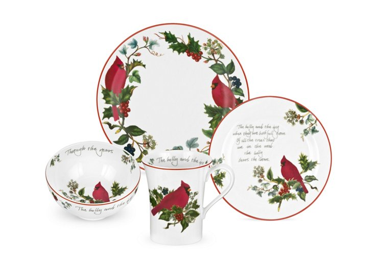 4-Piece Cardinal Place Setting