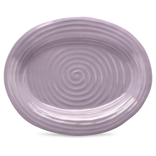 Porcelain Oval Platter, Purple