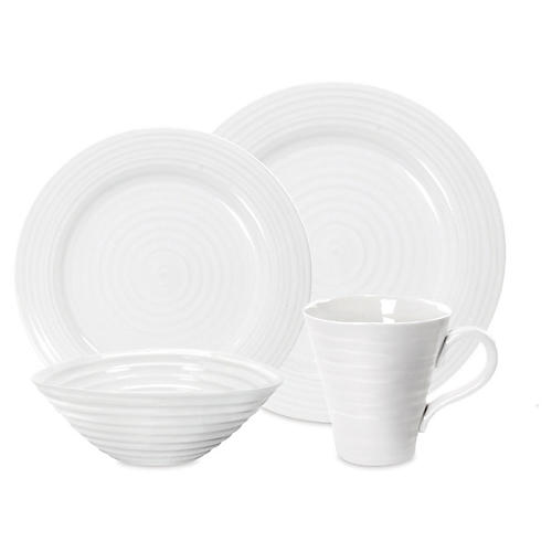 4-Pc Porcelain Place Setting