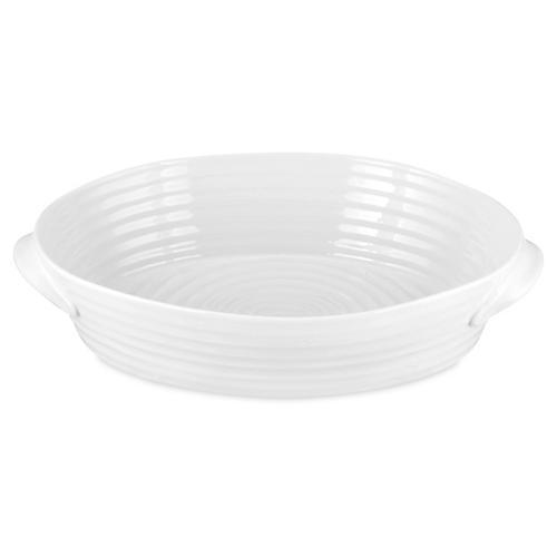 Handled Oval Porcelain Roasting Dish