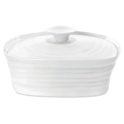 Sophie Conran Butter Dish, White