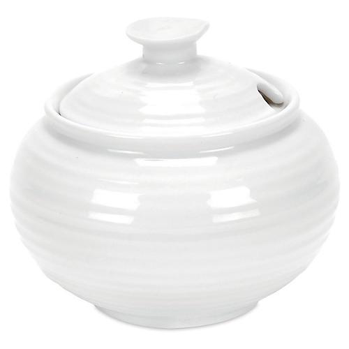 Porcelain Covered Sugar Bowl