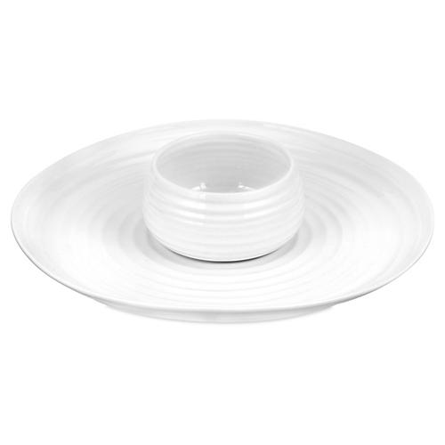 S/2 Sophie Conran Chip & Dip Set, White