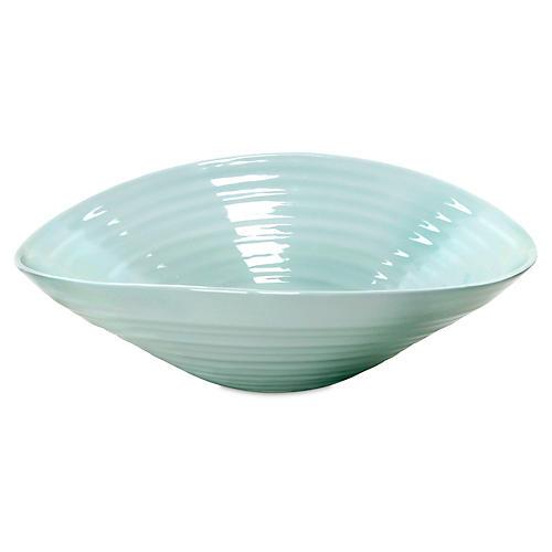 Porcelain Salad Bowl, Turquoise