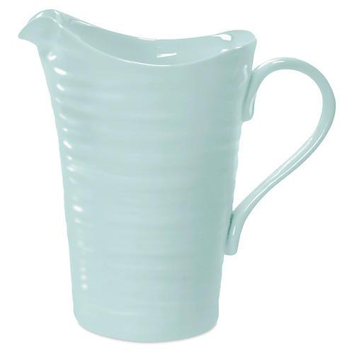Porcelain Pitcher/Jug, Turquoise