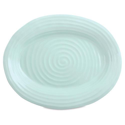 Porcelain Oval Platter, Turquoise