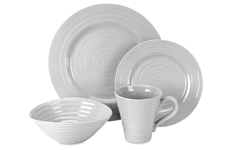 Asst. of 4 Sophie Conran Place Setting, Grey