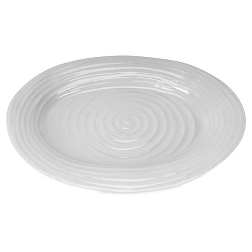 Porcelain Oval Platter, Gray