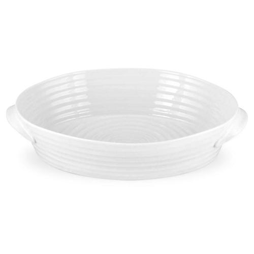 "11"" Sophie Conran Cres Oval Roasting Dish, White"