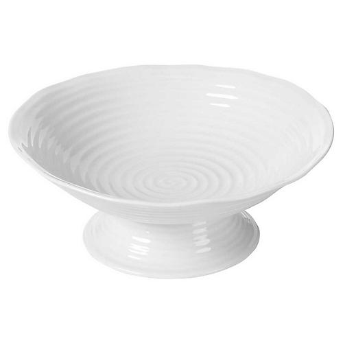 Sophie Conran Tate Footed Serving Bowl, White