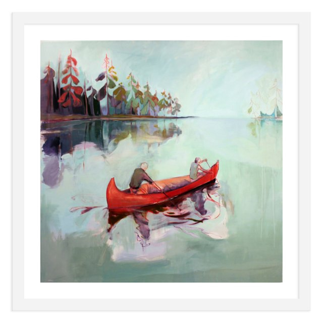 Reflected Red Canoe