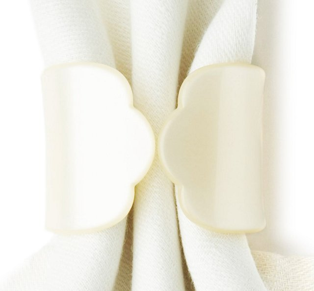 S/4 Old-Fashion Napkin Rings, Pearl